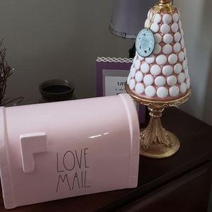 Rae Dunn Pink LOVE MAIL box